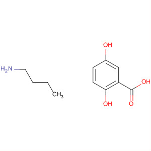 Benzoic acid, 2,5-dihydroxy-, compd. with 1-butanamine (1:1)
