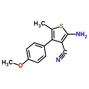 2-amino-4-(4-methoxyphenyl)-5-methylthiophene-3-carbonitrile