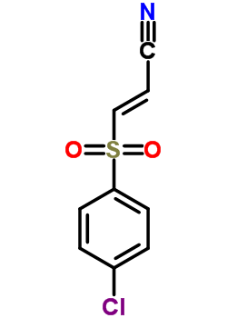 (2E)-3-[(4-chlorophenyl)sulfonyl]prop-2-enenitrile