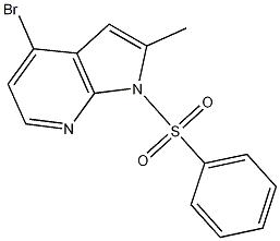1-(benzenesulfonyl)-4-bromo-2-methylpyrrolo[2,3-b]pyridine