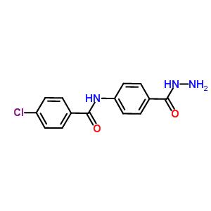 4-chloro-N-[4-(hydrazinylcarbonyl)phenyl]benzamide