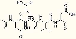 Ac-Asp-Glu-Val-Asp-aldehyde (pseudo acid)