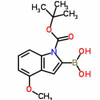 1-(tert-butoxycarbonyl)-4-methoxy-1H-indol-2-ylboronic acid