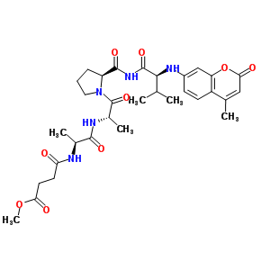 N-(4-methoxy-4-oxobutanoyl)alanylalanylprolyl-N-(4-methyl-2-oxo-2H-chromen-7-yl)valinamide