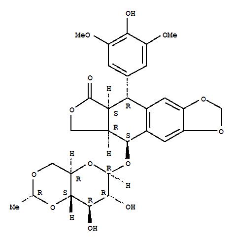 Furo[3',4':6,7]naphtho[2,3-d]-1,3-dioxol-6(5aH)-one,9-[[4,6-O-(1R)-ethylidene-b-D-glucopyranosyl]oxy]-5,8,8a,9-tetrahydro-5-(4-hydroxy-3,5-dimethoxyphenyl)-,(5R,5aS,8aR,9S)-