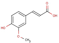 trans-4-hydroxy-3-methoxycinnamic acid