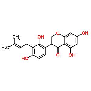 3-[2,4-dihydroxy-3-(3-methylbut-2-en-1-yl)phenyl]-5,7-dihydroxy-4H-chromen-4-one