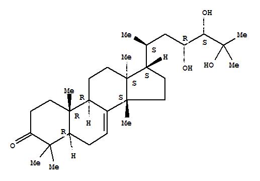 Lanost-7-en-3-one,23,24,25-trihydroxy-, (13a,14b,17a,20S,23R,24S)-