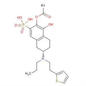 1-Naphthalenol, 5,6,7,8-tetrahydro-6-[propyl[2-(2-thienyl)ethyl]amino]-,hydrogen sulfate (ester), (6S)-