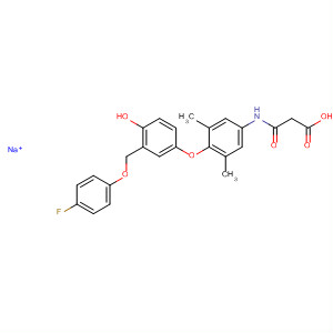 Propanoic acid,3-[[4-[3-[(4-fluorophenyl)hydroxymethyl]-4-hydroxyphenoxy]-3,5-dimethylphenyl]amino]-3-oxo-, monosodium salt
