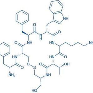 (Cysteinol,des-L-threoninol)-Octreotide acetate salt H-D-Phe-Cys-Phe-D-Trp-Lys-Thr-cysteinol acetate salt(Disulfide bond)