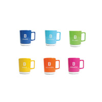 Bachem espresso mugs, pack of 6 assorted colors