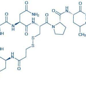 (Deamino-Cys¹)-Oxytocin 3-Mercaptopropionyl-Tyr-Ile-Gln-Asn-Cys-Pro-Leu-Gly-NH₂(Disulfide bond)