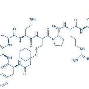 (d(CH),Tyr(Me),Dab,Arg,Tyr)-Vasopressin trifluoroacetate salt -Mercapto-,-cyclopentamethylene-propionyl-Tyr(Me)-Phe-Gln-Dab-Cys-Pro-Arg-Tyr-NH trifluoroacetate salt(Disulfide bond)