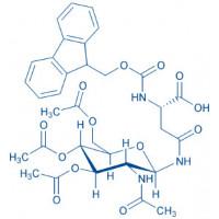 Fmoc-Asn(GlcNAc(Ac)--D)-OH