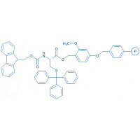 Fmoc-Cys(Trt)-SASRIN resin (200-400 mesh, 0.3-0.6 mmol/g) Fmoc-Cys(Trt)-2-methoxy-4-alkoxybenzyl alcohol resin