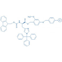 Fmoc-D-His(1-Trt)-SASRIN resin (200-400 mesh, 0.2-0.5 mmol/g) Fmoc-D-His(1-Trt)-2-methoxy-4-alkoxybenzyl alcohol resin