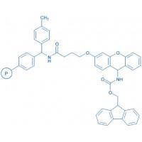Xanthenyl linker resin (200-400 mesh, 0.4-0.7 mmol/g) (4-(9-Fmoc-amino-xanthen-3-yloxy)butyryl)-4-methyl-benzhydrylamide resin