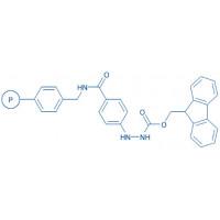 4-(Fmoc-hydrazino)-benzoylaminomethyl resin (200-400 mesh)