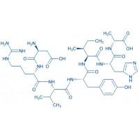 (D-Ala⁷)-Angiotensin I/II (1-7) trifluoroacetate salt H-Asp-Arg-Val-Tyr-Ile-His-D-Ala-OH trifluoroacetate salt