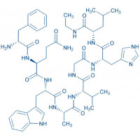 (D-Phe,Leu-NHEt,des-Met)-Bombesin (6-14) trifluoroacetate salt H-D-Phe-Gln-Trp-Ala-Val-Gly-His-Leu-NHEt trifluoroacetate salt