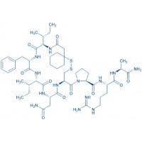 (d(CH₂)₅¹,D-Ile²,Ile⁴,Arg⁸,Ala-NH₂⁹)-Vasopressin β-Mercapto-β,β-cyclopentamethylene-propionyl-D-Ile-Phe-Ile-Asn-Cys-Pro-Arg-Ala-NH₂(Disulfide bond)