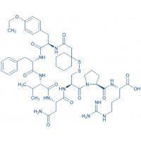 (d(CH₂)₅¹,D-Tyr(Et)²,Val⁴,Arg⁸,des-Gly⁹)-Vasopressin β-Mercapto-β,β-cyclopentamethylene-propionyl-D-Tyr(Et)-Phe-Val-Asn-Cys-Pro-Arg-NH₂(Disulfide bond)