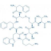 (D-Phe⁵,Cys⁶·¹¹,N-Me-D-Trp⁸)-Somatostatin-14 (5-12) amide H-D-Phe-Cys-Phe-N-Me-D-Trp-Lys-Thr-Cys-Thr-NH₂(Disulfide bond)