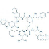 BIM-23627 trifluoroacetate salt H-p-Chloro-Phe-D-Cys--(2-pyridyl)-Ala-Trp-Lys-Val-Cys-2-Nal-NH trifluoroacetate salt(Disulfide bond)