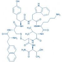 Lanreotide acetate salt H-D-2-Nal-Cys-Tyr-D-Trp-Lys-Val-Cys-Thr-NH₂ acetate salt(Disulfide bond)