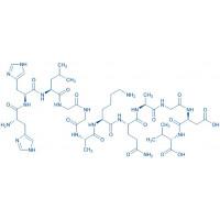Fibrinogen-Binding Inhibitor Peptide H-His-His-Leu-Gly-Gly-Ala-Lys-Gln-Ala-Gly-Asp-Val-OH