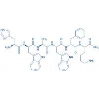 (D-Trp,Ala,D-Phe)--MSH (6-11) amide H-His-D-Trp-Ala-Trp-D-Phe-Lys-NH