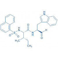 1-Naphthalenylsulfonyl-Ile-Trp-aldehyde