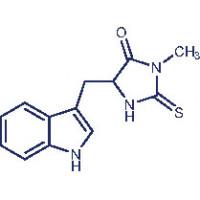 Necrostatin-1 5-(1H-Indol-3-ylmethyl)-3-methyl-2-thioxo-4-imidazolidinone