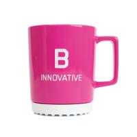 Bachem mug large, magenta, B innovative