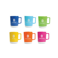 Bachem mugs large, pack of 6 assorted colors