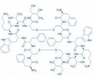 Octreotide trifluoroacetate salt (Dimer, Antiparallel) (H-D-Phe-Cys-Phe-D-Trp-Lys-Thr-Cys-L-threoninol) trifluoroacetate salt(Disulfide bonds between CysA and CysB/CysA and CysB)