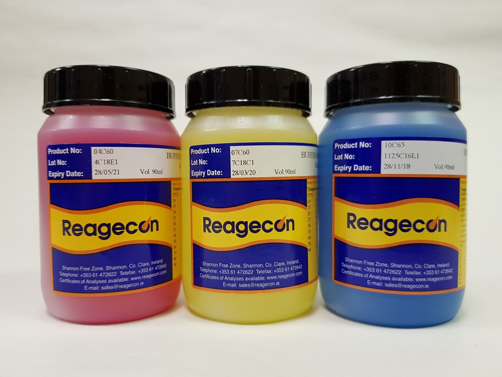 Reagecon pH 4.00 Recal Colour Coded Buffer Solution at 20°C