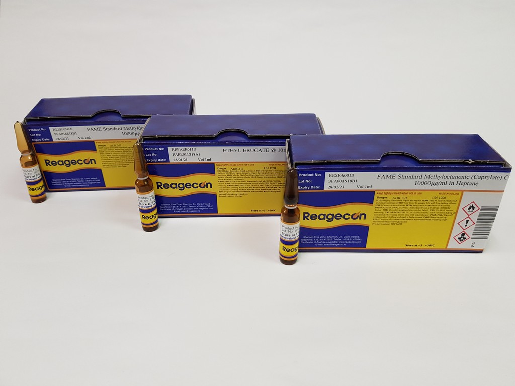 Reagecon Fatty Acid Ethyl Ester (FAEE) Single Compound Standard Ethyl Stearate 10 mg/mL in Hexane