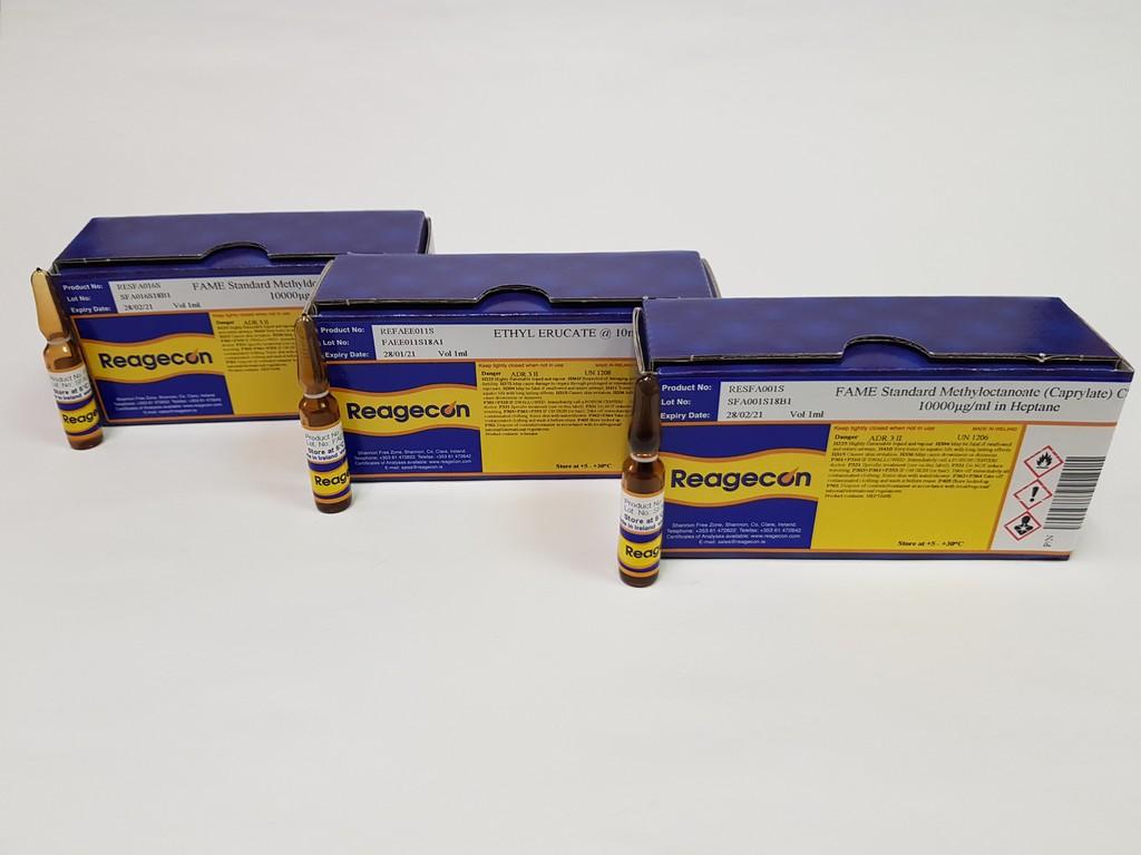 Reagecon Fatty Acid Methyl Ester (FAME) Single Compound Standard Methyl 12-hydroxy-cis-9-octadecenoate (Ricinoleate) C18:1 10000 µg/mL in Heptane