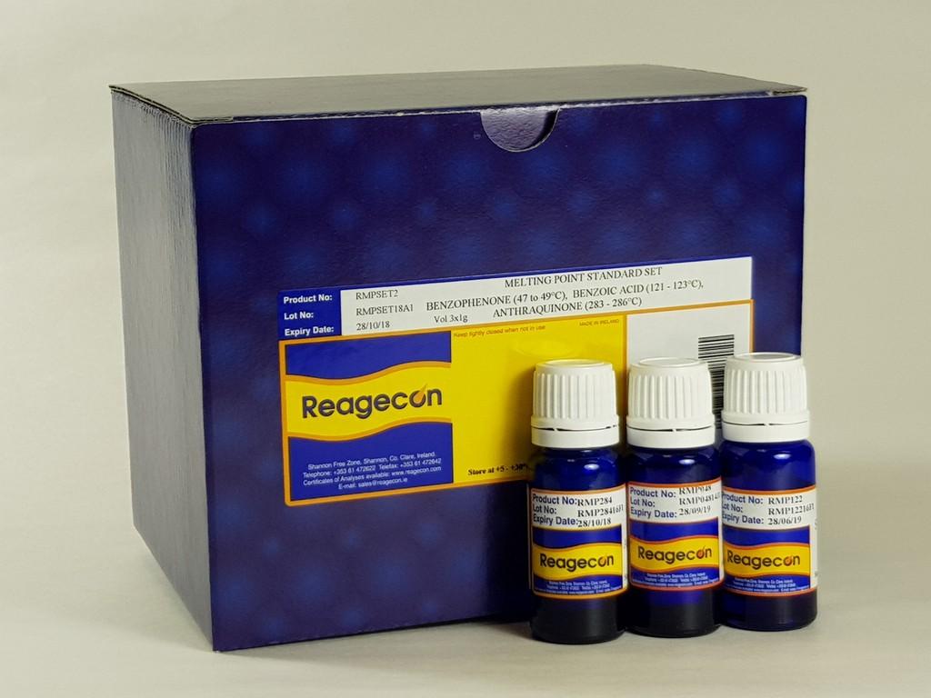 Reagecon Melting Point (Phenacetin, Caffeine, Vanillin) Standard Set