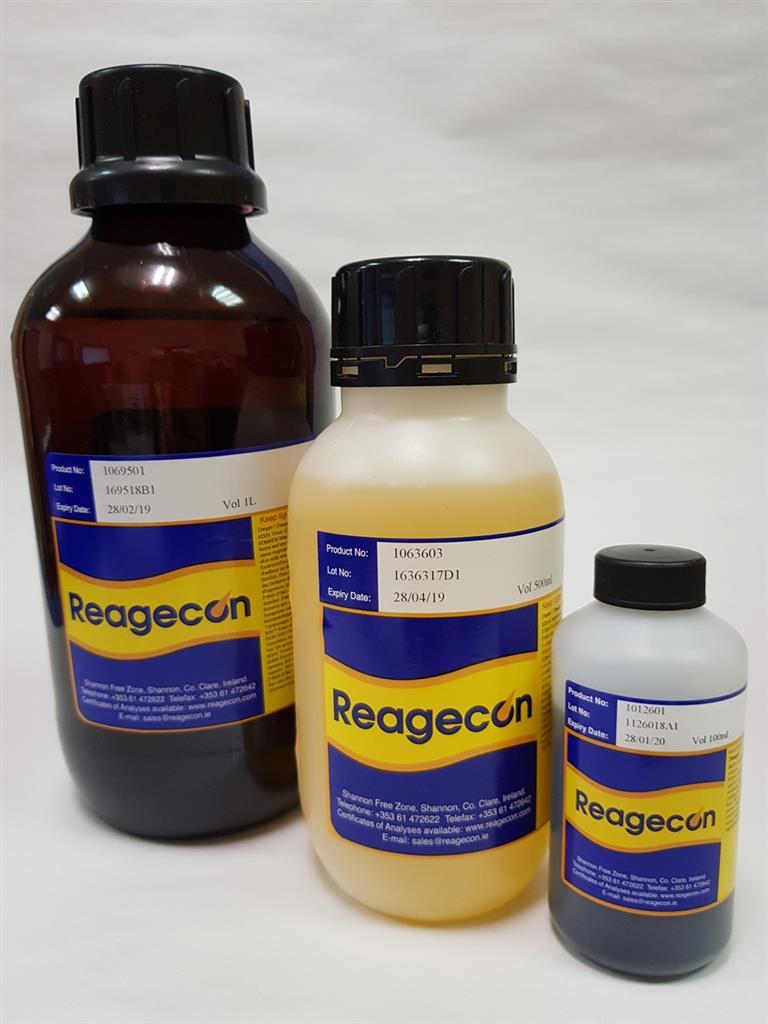 Reagecon Bromothymol Blue R1 Solution according to European Pharmacopoeia (EP) Chapter 4 (4.1.1)