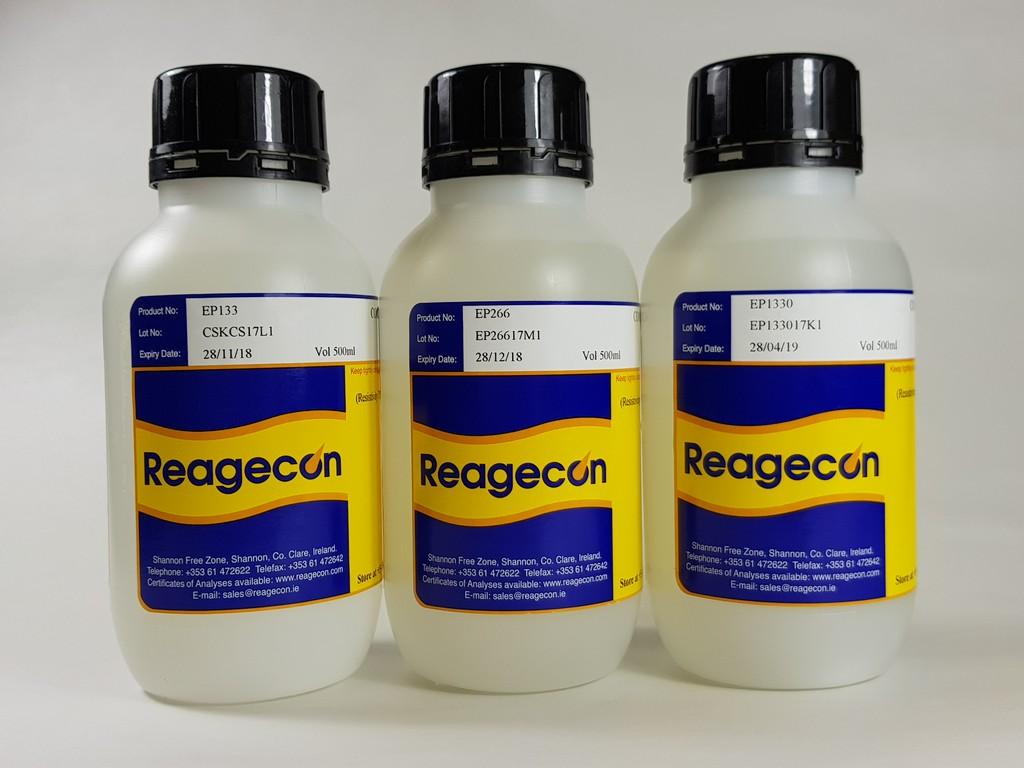 Reagecon 26.6 µs/cm Conductivity and Resistivity at 20C according to European Pharmacopoeia (EP)