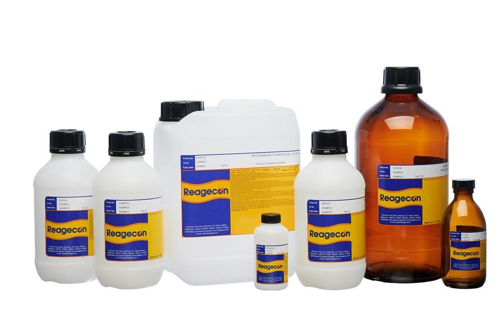 Reagecon Sodium Hydroxide 30% w/w (40% w/v) Low in Nitrogen Kjeldahl Reagent