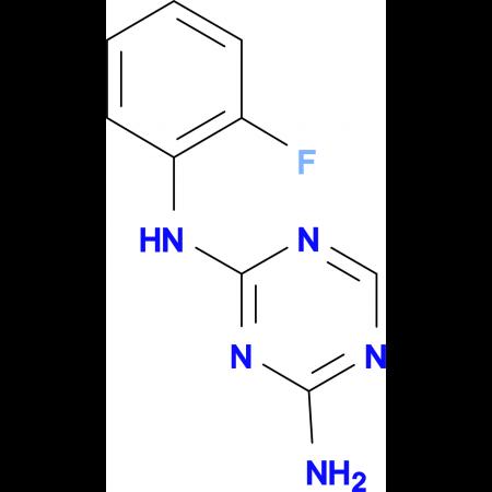 2-Amino-4-(2-fluorophenylamino)-1,3,5-triazine