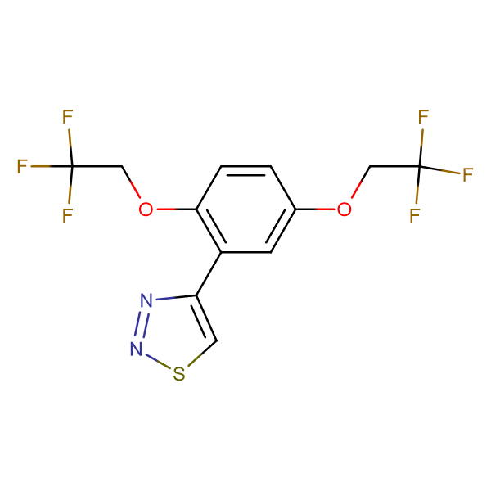 4-[2,5-Bis(2,2,2-trifluoroethoxy)phenyl]-1,2,3-thiadiazole