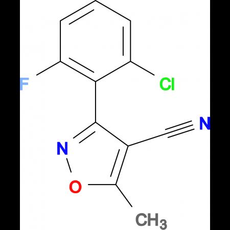 3-(2-Chloro-6-fluorophenyl)-5-methylisoxazole-4-carbonitrile