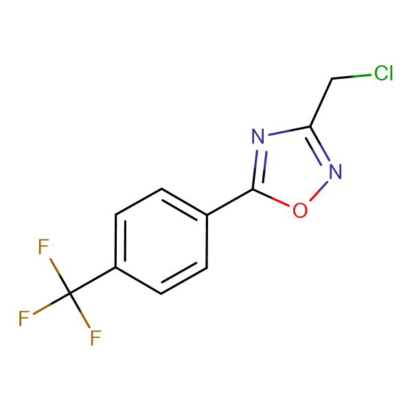 3-(Chloromethyl)-5-[4-(trifluoromethyl)phenyl]-1,2,4-oxadiazole