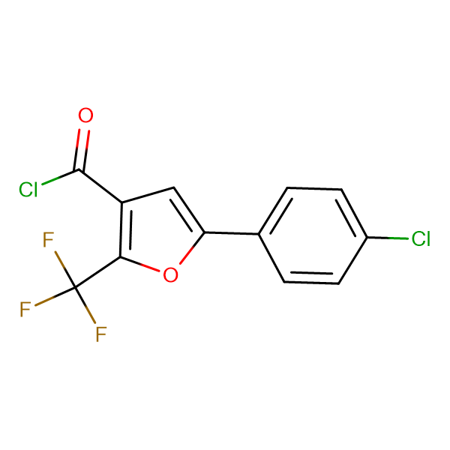 5-(4-Chlorophenyl)-2-(trifluoromethyl)furan-3-carbonyl chloride