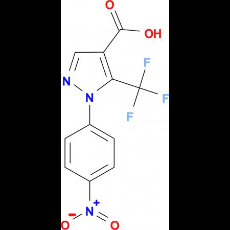 1-(4-Nitrophenyl)-5-(trifluoromethyl)pyrazole-4-carboxylic acid
